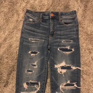 American Eagle high-rise jegging crop jeans size 0